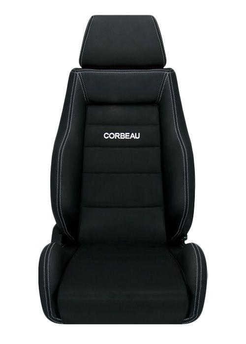[USコルビュー 直輸入正規品] CORBEAU GTS リクライニングシート(レザー/スエードシート) ブラック (運転席 助手席セット)