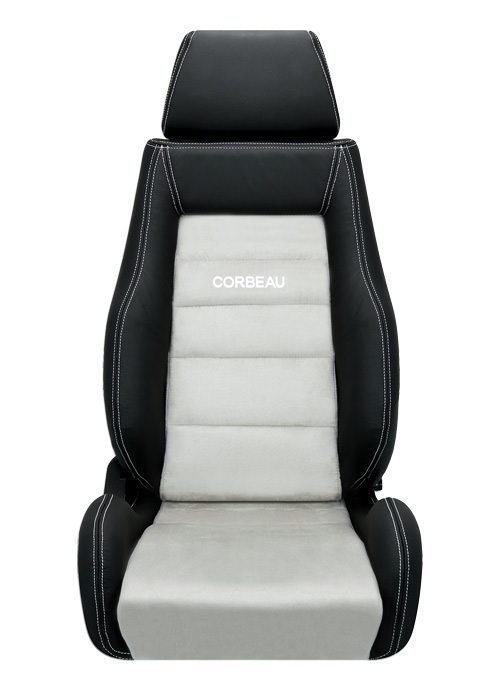 [USコルビュー 直輸入正規品] CORBEAU GTS リクライニングシート(レザー/スエードシート) ブラック/グレー (運転席)