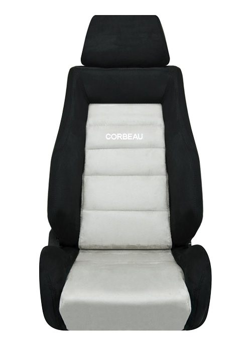 [USコルビュー 直輸入正規品] CORBEAU GTS リクライニングシート(スエードシート) ブラック/グレー (運転席 助手席セット)