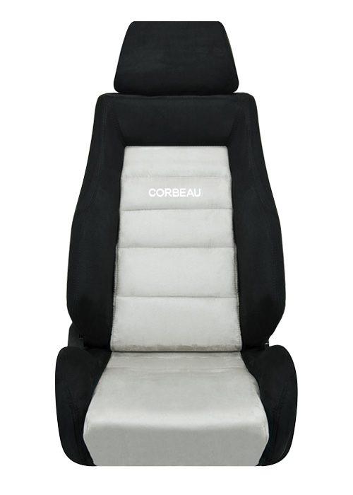 [USコルビュー 直輸入正規品] CORBEAU GTS リクライニングシート(スエードシート) ブラック/グレー (助手席)