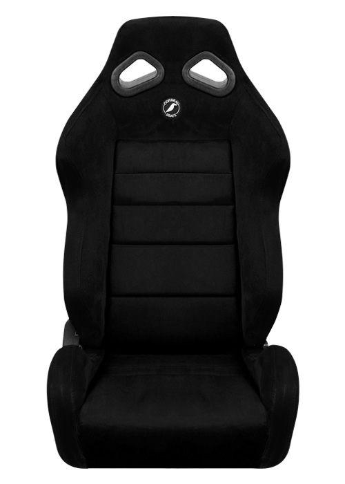 [USコルビュー 直輸入正規品] CORBEAU TRS リクライニングシート(スエードシート) ブラック (運転席 助手席セット)
