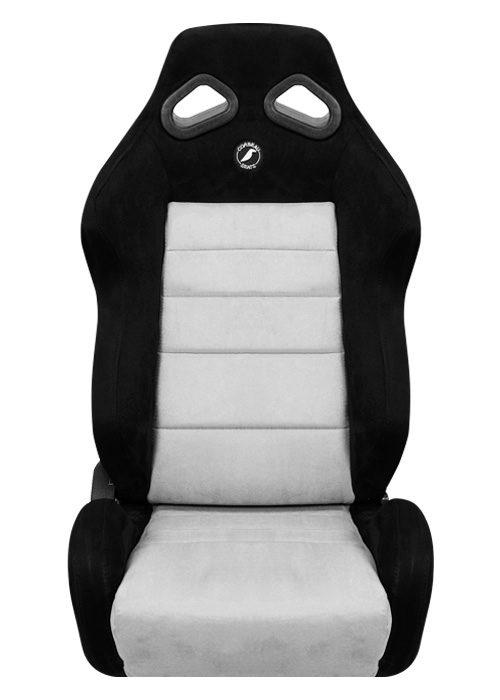 [USコルビュー 直輸入正規品] CORBEAU TRS リクライニングシート(スエードシート) ブラック/グレー (運転席 助手席セット)