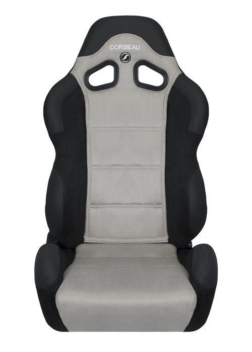 [USコルビュー 直輸入正規品] CORBEAU CR1 リクライニングシート(スエードシート) ブラック/グレー (運転席 助手席セット)