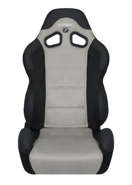 [USコルビュー 直輸入正規品] CORBEAU CR1 リクライニングシート(スエードシート) ブラック/グレー ワイド (助手席)