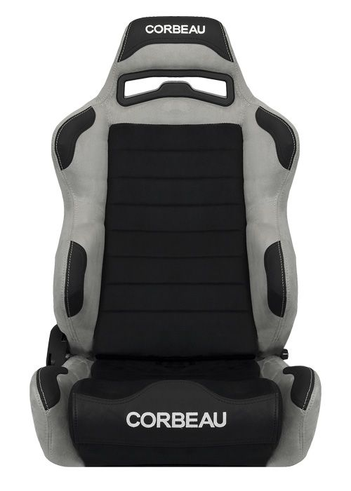 [USコルビュー 直輸入正規品] CORBEAU LG1 リクライニングシート(スエードシート) ブラック/グレー (運転席)