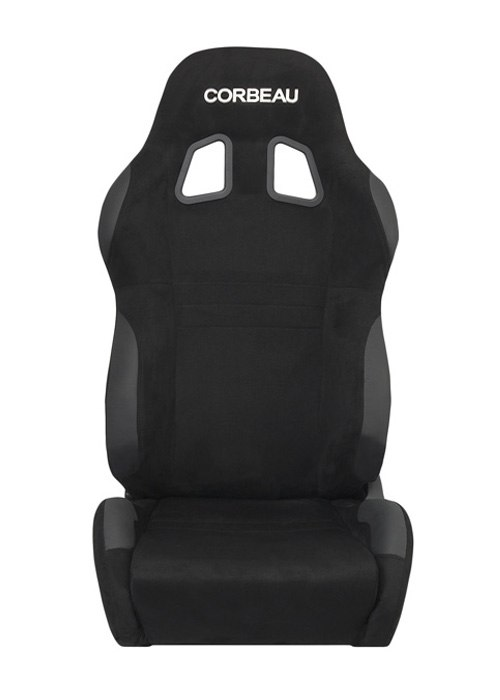 [USコルビュー 直輸入正規品] CORBEAU A4 リクライニングシート(スエードシート) ブラック ワイド (運転席 助手席セット)