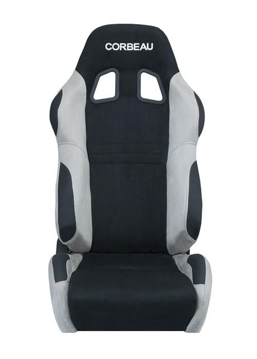 [USコルビュー 直輸入正規品] CORBEAU A4 リクライニングシート(スエードシート) ブラック/グレイ (運転席のみ)