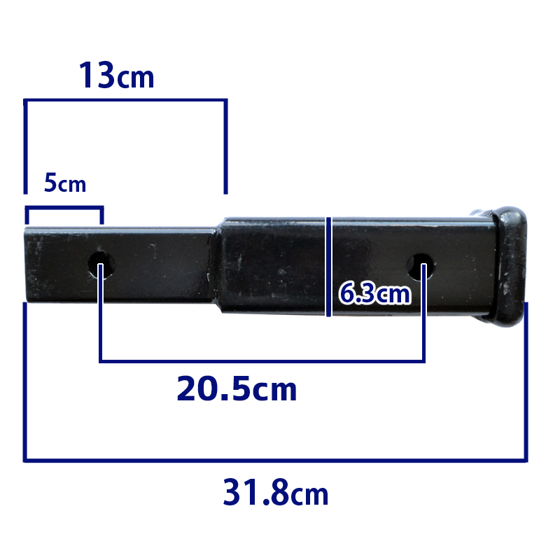 CURT trailer hitch cart (for hitch Member/receiver hitch) reseaverextender * 2-inch (5 cm) for square hitch