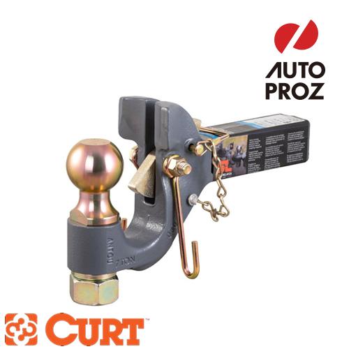 [CURT 正規品] SECURELATCH レシーバーマウント 2-5/16インチボール付き ピントルヒッチ 2インチ角 メーカー保証付