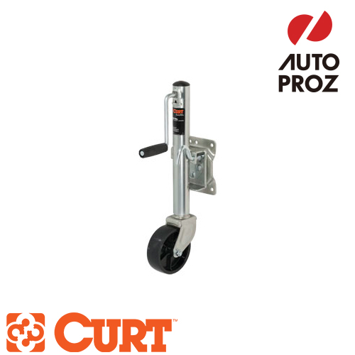 [CURT 正規品] マリンジャッキ サイドハンドル 6インチキャスター付 耐荷重1200LB ストローク10インチ メーカー保証付