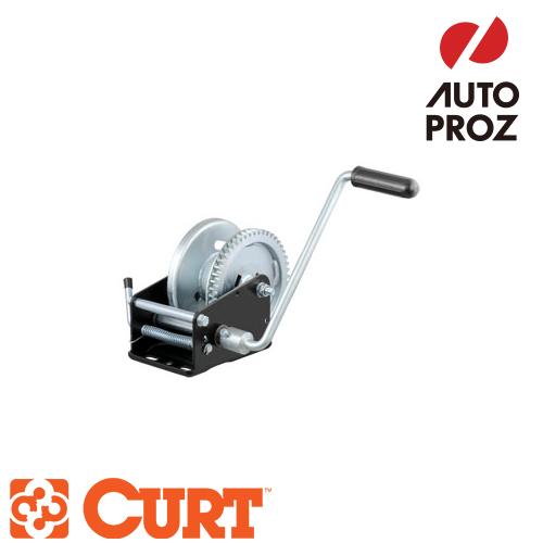 [CURT 正規品] ハンドウィンチ 牽引最大負荷2100LB 歯車比5.1:1 メーカー保証付
