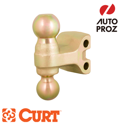 [CURT 正規品] トレーラーヒッチ用 アジャスタブルチャンネルマウント用 デュアルボール付ボールマウントヘッド メーカー保証付