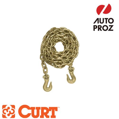 【正規輸入代理店】CURT カートセーフティチェーンアセンブリ5/16インチ×162インチ(最小ブレーキホース:26400LB) メーカー保証付
