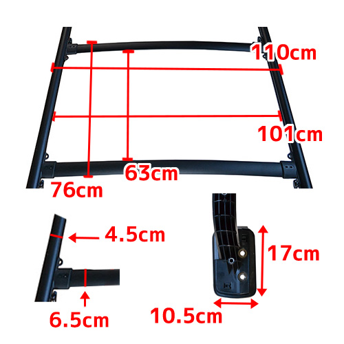 4Runner 4 runner ( ハイラックサーフ ) 2003-2009 with expression compatible roof rack * Japanese installation instructions