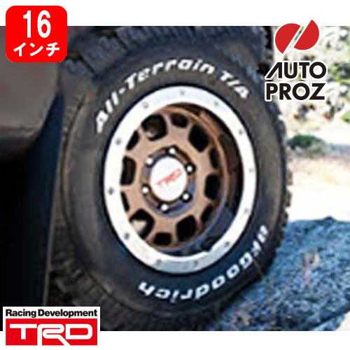 [USトヨタ 直輸入純正品] FJクルーザー タコマTRD ビードロックスタイル16インチ アルミホイールブロンズ タイヤホイール5本セットBFグッドリッチ 265/75R16