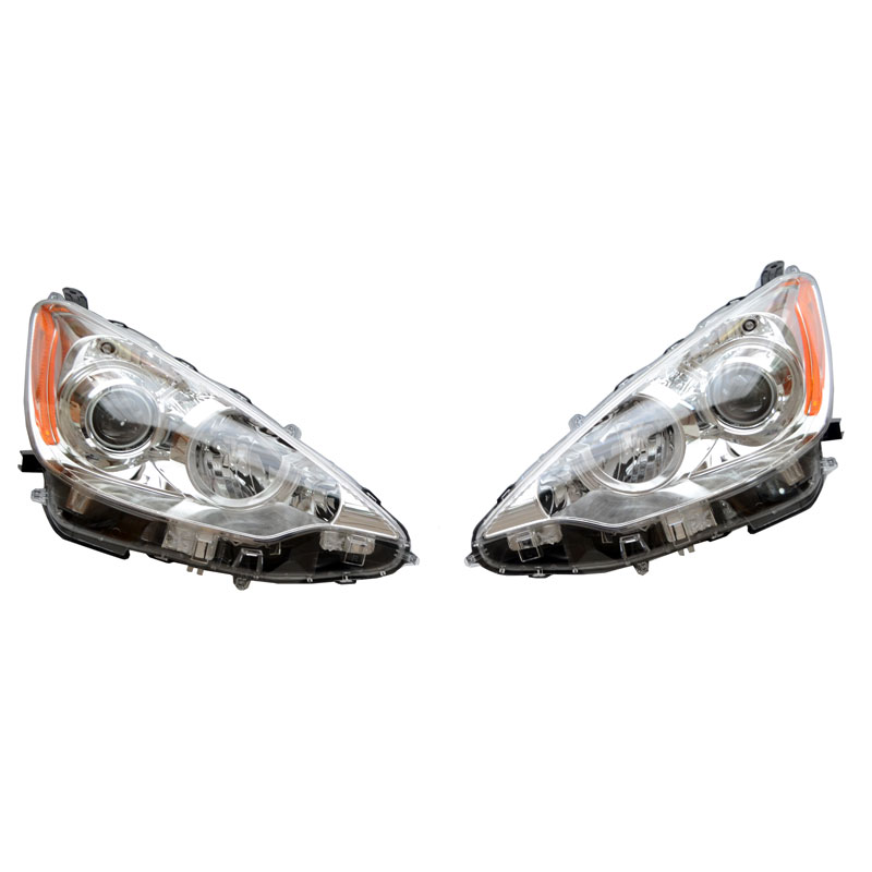 【USトヨタ 直輸入純正品】 北米 PriusC プリウスC(AQUA アクア)2012年式以降対応ヘッドライト(ヘッドランプ) アセンブリ※ハロゲンタイプ 左右
