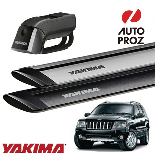 [YAKIMA 正規品] Jeep グランドチェロキー WJ, WG型 ルーフレール付き車両に適合 ベースラックセット (ティンバーライン・ジェットストリームバーS)