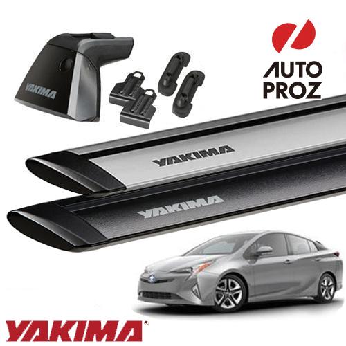 [正規輸入代理店]YAKIMA ヤキマ プリウス50系用ベースラックセット (ベースライン・ベースクリップ123,169・ジェットストリームバーS)