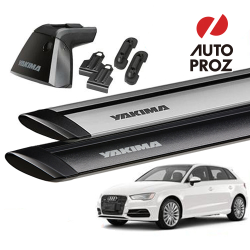 [YAKIMA 正規品] Audi アウディ A3/S3/RS3 スポーツバック ベースラックセット (ベースライン・ベースクリップ123,159・ジェットストリームバーS)