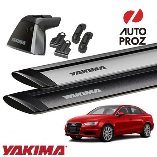 [正規輸入代理店]YAKIMA ヤキマ Audi アウディ A3/S3 セダン ベースラックセット (ベースライン・ベースクリップ110,136・ジェットストリームバーS)