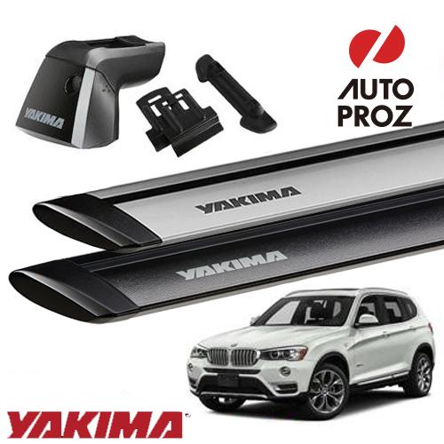 [正規輸入代理店]YAKIMA ヤキマ BMW X3 F25型 フラッシュレール付き車両に適合ベースラックセット (リッジライン・リッジクリップ8・ジェットストリームバーS)