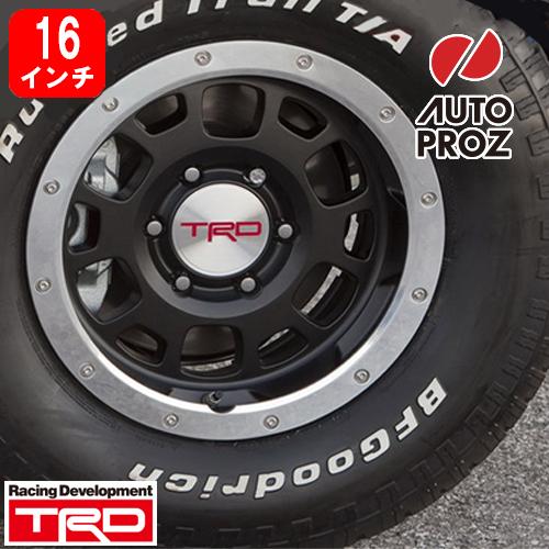 [USトヨタ 直輸入純正品] FJクルーザー タコマTRD ビードロックスタイル16インチ アルミホイールブラック タイヤホイール5本セットBFグッドリッチ 265/75R16