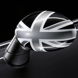 【USミニ 直輸入純正品】 MINI Cooper Hardtopミニクーパー2009-2013年(平成21年-25年式)ブラックジャックミラーカバー 左右