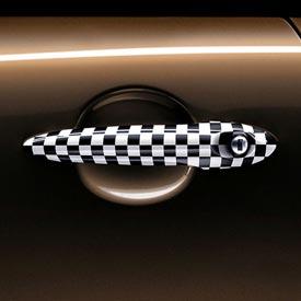 【USミニ 直輸入純正品】 MINI Cooper Hardtopミニクーパーチェッカーフラッグドアハンドル 左右