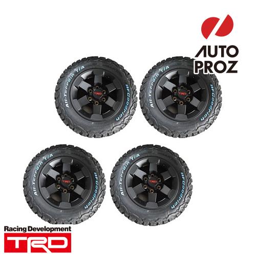 [USトヨタ 直輸入純正品] ハイエース 200系25mmオーバーフェンダー必須TRD 16インチアルミホイール ブラック タイヤホイール4本セットBFグッドリッチ 215/70R16