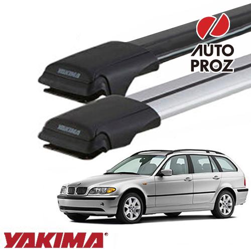 [YAKIMA 正規品] BMW 3シリーズワゴン E46型 ルーフレール有り車両に適合 ベースラックセット (レールバーLGサイズ×2)