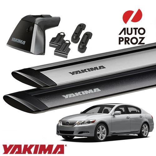 [YAKIMA 正規品] レクサス GS S190型 2005-12年式に適合ベースキャリアセット (ベースライン・ベースクリップ185,185 ・ジェットストリームバーS)