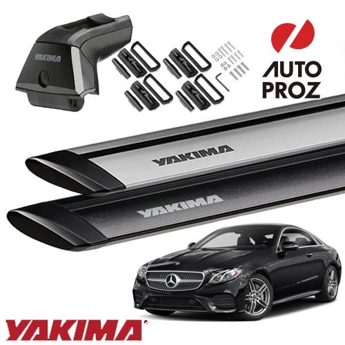[YAKIMA 正規品] メルセデスベンツ Eクラスクーペ C213型 フィックスポイント付き車両に適合 (スカイラインタワー・ランディングパッド22・ジェットストリームバーS)