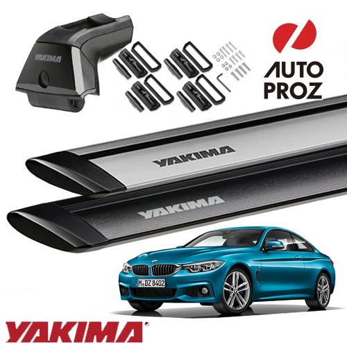 [YAKIMA 正規品] BMW 4シリーズクーペ F32型 フィックスポイント付き車両に適合 (スカイラインタワー・ランディングパッド22・ジェットストリームバーS)