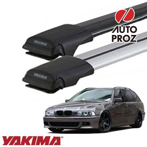[YAKIMA 正規品] BMW 5シリーズワゴン E39型 ルーフレール有り車両に適合 ベースラックセット (レールバーMD,SMサイズ)