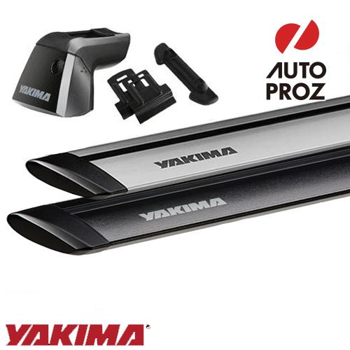 [YAKIMA 正規品] フラッシュレール付き車両に適合 ベースキャリアセット (リッジライン・リッジクリップ・ジェットストリームバー)