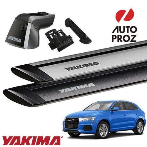 [YAKIMA 正規品] Audi アウディ Q3 フラッシュレール付き車両に適合ベースラックセット (リッジライン・リッジクリップ11・ジェットストリームバーS)