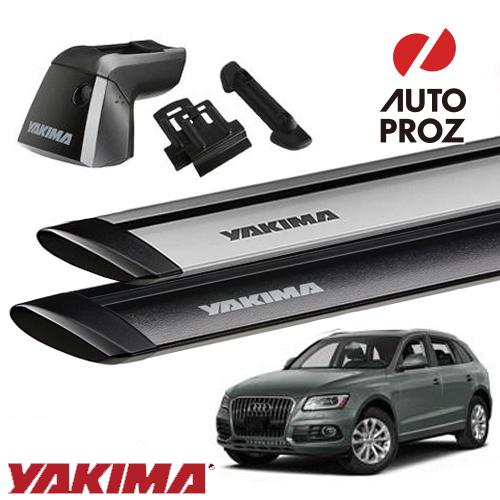 [YAKIMA 正規品] Audi アウディ Q5/SQ5 フラッシュレール付き車両に適合ベースラックセット (リッジライン・リッジクリップ11・ジェットストリームバーM)
