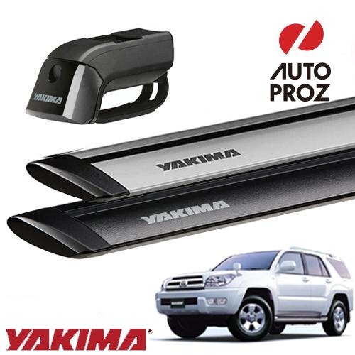 [YAKIMA 正規品] トヨタ ハイラックスサーフ 215系 2002-2009年式 ルーフレール有り車両に適合 ベースキャリアセット (ティンバーライン・ジェットストリームバーM)