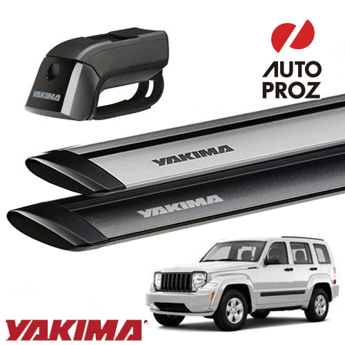 [YAKIMA 正規品] Jeep チェロキー KJ型 ルーフレール付き車両に適合 ベースキャリアセット (ティンバーライン・ジェットストリームバーS)