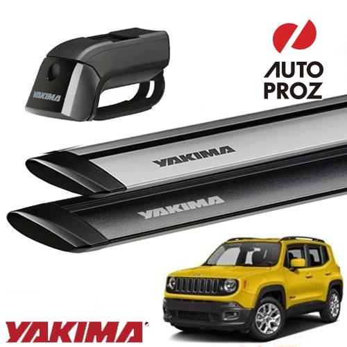 [YAKIMA 正規品] ジープ レネゲード ルーフレール付き車両に適合 ベースキャリアセット (ティンバーライン・ジェットストリームバーS)