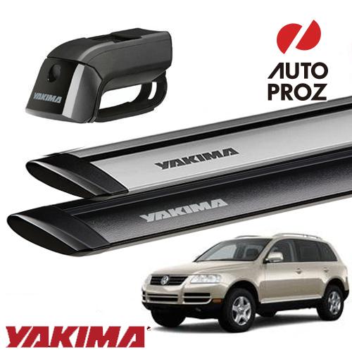 [YAKIMA 正規品] フォルクスワーゲン トゥアレグ 2002-2010年式 ルーフレール付き車両に適合 ベースキャリアセット (ティンバーライン・ジェットストリームバーS)