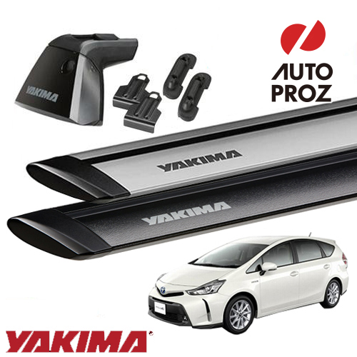 [YAKIMA 正規品] トヨタ プリウスα 40系に適合 パノラマルーフ車両にも適合 ベースキャリアセット (ベースライン・ベースクリップ117,174 ・ジェットストリームバーS)