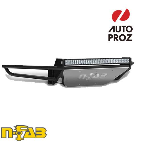 【USエヌファブ 直輸入正規品】 n-Fab シボレー 1500 2014-2015年式 PreRunner フロントバンパー LEDライトマウント付き ツヤありブラック
