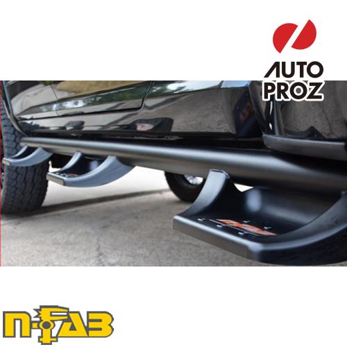 【USエヌファブ 直輸入正規品】 n-Fab フォード F150 スーパーキャブ 6.5フィートベッド 2015-2017年式 N-Duraステップ ベッドアクセス ツヤありブラック