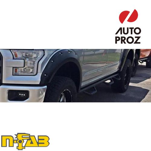 【USエヌファブ 直輸入正規品】 n-Fab フォード F150 スーパークルー 5.5フィートベッド 2015-2017年式 ナーフステップ ベッドアクセス ツヤありブラック