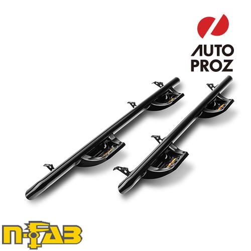 【USエヌファブ 直輸入正規品】 n-Fab フォード F150 スーパークルー 6.5フィートベッド 2015-2017年式 N-Duraステップ ツヤありブラック