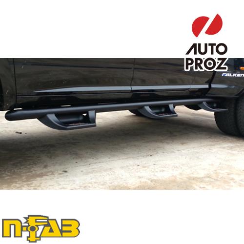 【USエヌファブ 直輸入正規品】 n-Fab フォード F250/F350 クルーキャブ 8フィートベッド 1987-1997年式 N-Duraステップ ベッドアクセス ツヤありブラック