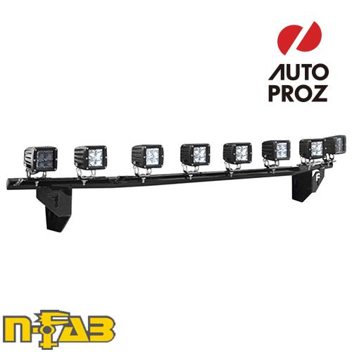 【USエヌファブ 直輸入正規品】 n-Fab フォード F250/F350 Super Duty (アクティブクルーズコントロールを含む) 2017年式 ライトバーマウント ツヤありブラック
