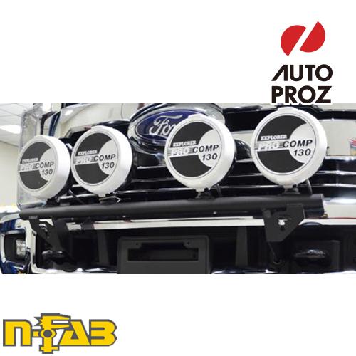 【USエヌファブ 直輸入正規品】 n-Fab フォード F250/F350 Super Duty (アクティブクルーズコントロールを含む) 2017年式 ライトマウント ツヤありブラック