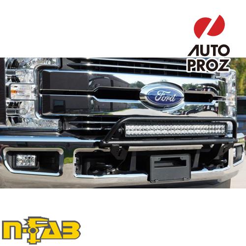 【USエヌファブ 直輸入正規品】 n-Fab フォード F250/F350 Super Duty (アクティブクルーズコントロールを含む) 2017年式 O.R. ライトマウント ツヤありブラック